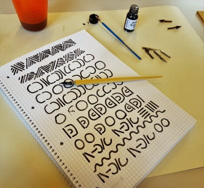 Erste Kalligraphie - Schritte