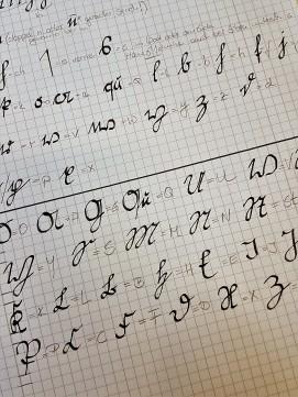 Deutsche Schrift (mit Übersetzung)