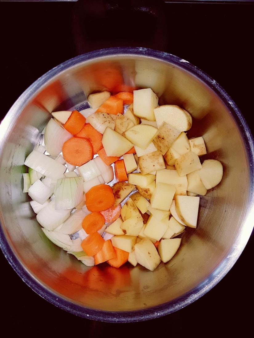 Gemüse, fast weichgekochr