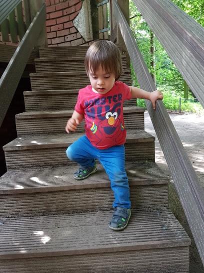 Treppe runter